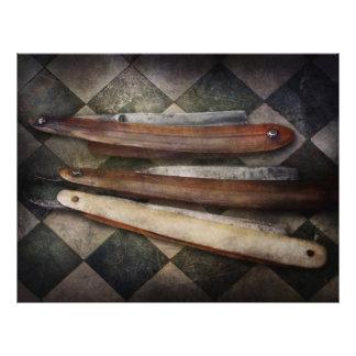 Barbeiro - a lâmina panfleto coloridos