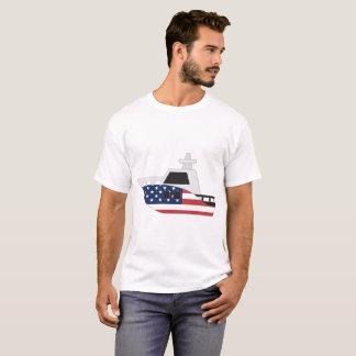 Barco de bandeira dos Estados Unidos T-shirts