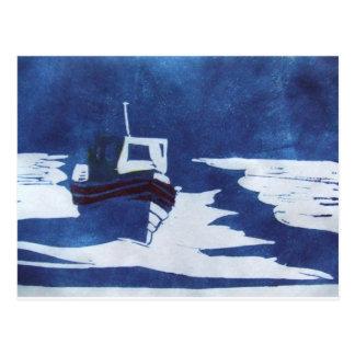 barco de descanso cartão postal