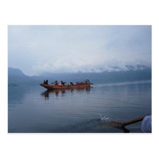 barco do lago cartão postal