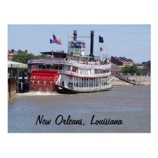 Barco do rio Mississípi de Nova Orleães Louisiana Cartão Postal