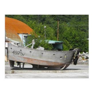 Barco encalhado cartão postal