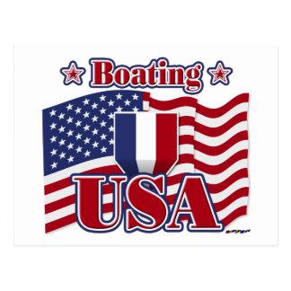 Barco EUA Cartão Postal