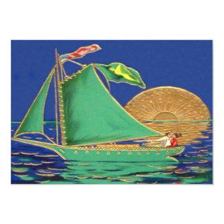 Barco irlandês de Sun da bandeira americana da Convite 12.7 X 17.78cm