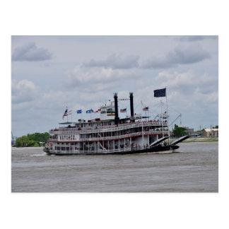 Barco Nova Orleães do rio Mississípi Cartão Postal
