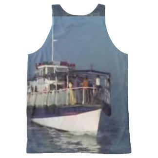 Barco unisex das camisolas de alças da flor do regata com estampa completa