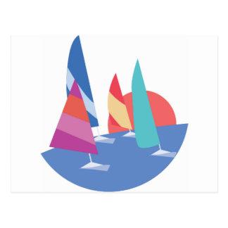 Barcos de navigação cartão postal