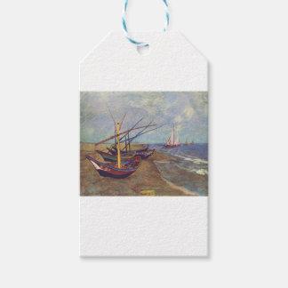 Barcos de pesca na praia por Vincent van Gogh