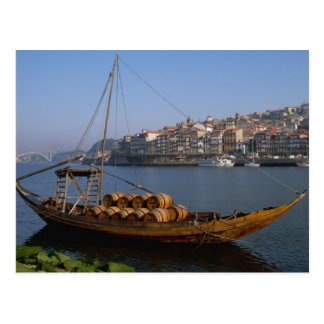 Barcos de Rabelo, Porto, Portugal Cartão Postal