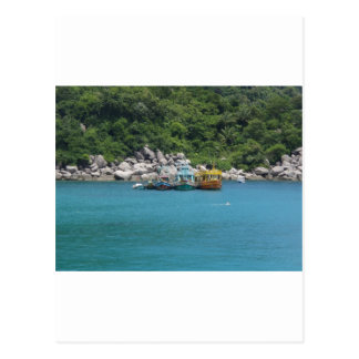 Barcos de Tailândia Cartão Postal