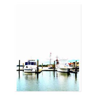 Barcos entrados cartão postal