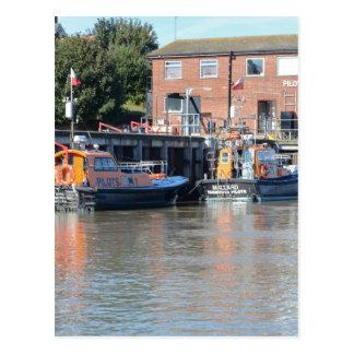 Barcos piloto cartão postal