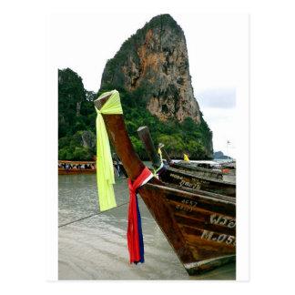 Barcos tailandeses cartão postal