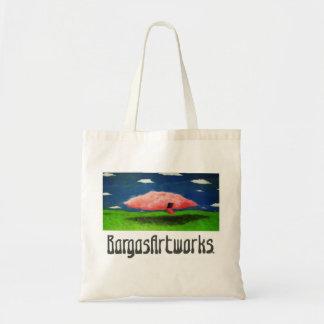 BargasArtworks que vem fora meu saco cor-de-rosa d Bolsa De Lona
