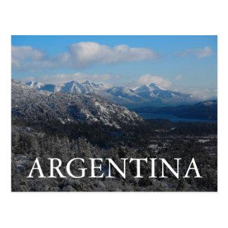 Bariloche, negro de Rio, Argentina Cartão Postal