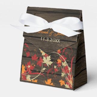 Barnwood rústico queda deixa a caixa do favor do caixinhas de lembrancinhas para casamentos