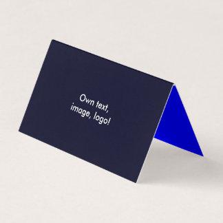 Barraca dobrada cartão de visita H azul escuro -
