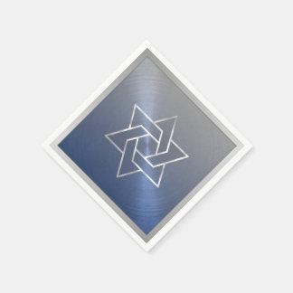 Barre cinzas azuis da estrela de David de Mitzvah