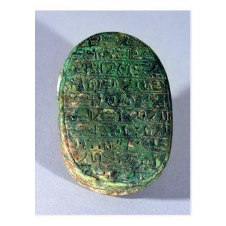 Base de um escaravelho do casamento de Amenhotep Cartão Postal