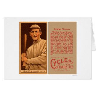 Basebol 1912 de White Sox do tecelão do fanfarrão Cartão Comemorativo