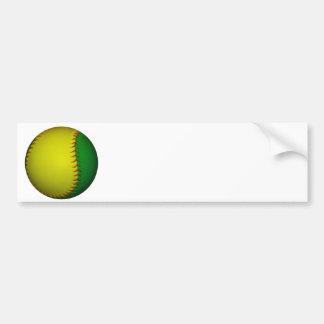 Basebol amarelo e verde adesivo para carro