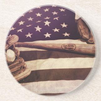 Basebol americano porta copos de arenito