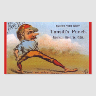 Basebol antigo TC Tobin da imagem do anúncio do ch Adesivo Em Formato Retângular