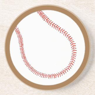 Basebol branco vermelho feito sob encomenda em porta copos de arenito