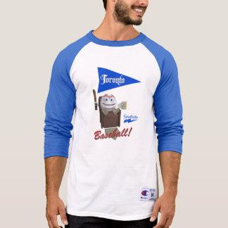 "Basebol de Scolletta ""Toronto!"" 3/4 de Raglan da Camiseta"
