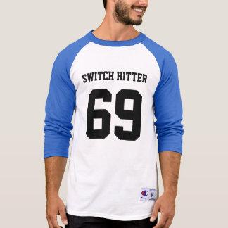 Basebol do lançador de interruptor camiseta