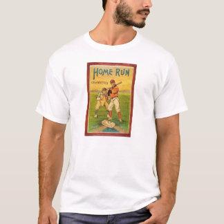 Basebol do vintage dos cigarros de Homerun Camiseta