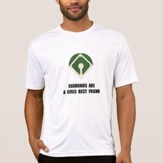 Basebol dos diamantes tshirt