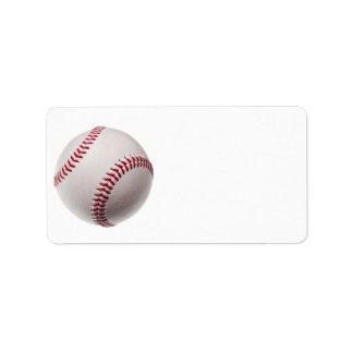Basebol - personalize o modelo do fundo do basebol etiqueta de endereço