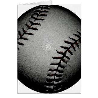 Basebol preto cartão comemorativo