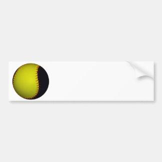 Basebol/softball amarelos e pretos adesivo para carro