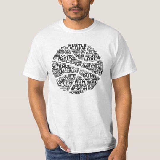 Basketball Typography Camiseta
