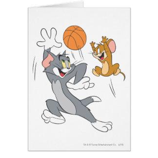 Basquetebol 1 de Tom e de Jerry Cartão Comemorativo