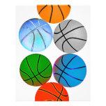 Basquetebol coloridos múltiplo modelo de panfleto