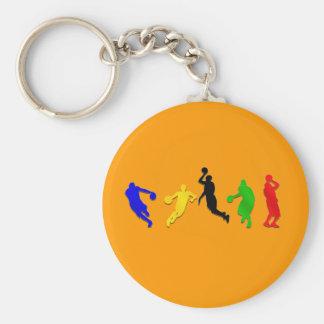 Basquetebol das aros dos jogadores de basquetebo chaveiros