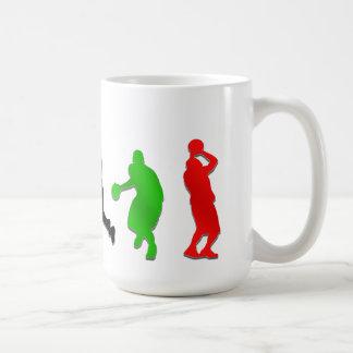 Basquetebol das aros dos jogadores   de caneca de café