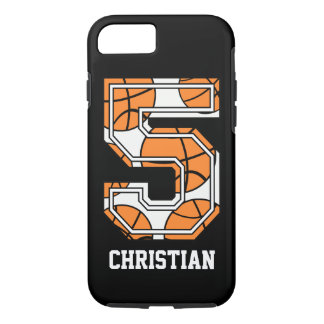Basquetebol personalizado número 5 capa iPhone 7