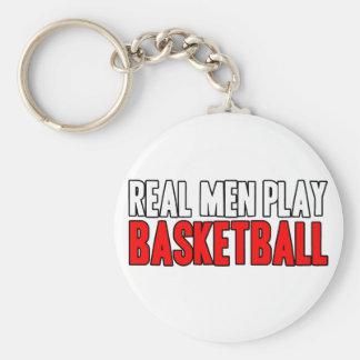 Basquetebol real do jogo dos homens chaveiros