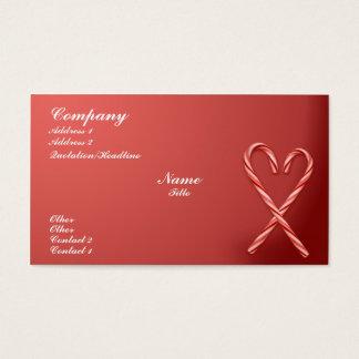 Bastão de doces cartão de visitas