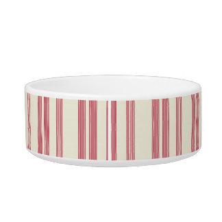 Bastão de doces cor-de-rosa fino das listras tijela para água para gatos