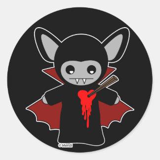 Bastão de vampiro bonito de Lil Adesivos Redondos