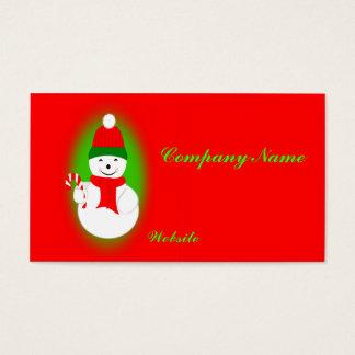 Bastão do boneco de neve e de doces cartão de visitas