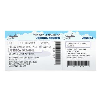 Bastão Mitzvah do bar do bilhete de avião Convite Personalizado