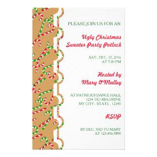 Bastões de doces do feriado do Natal da cor da Flyer 13.97 X 21.59cm