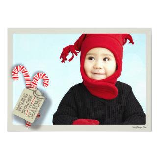 Bastões de doces doces do cartão com fotos do convite 12.7 x 17.78cm