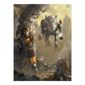 batalha com o robô poster